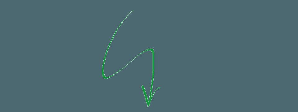 pijl groen getekent
