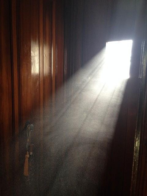 stof en lichtstraal