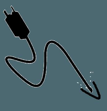 snoer kabel zwart